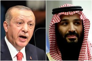 President Recep Tayyip Erdogan of Turkey (left) and Crown Prince Mohammed bin Salman of Saudi Arabia have until now kept their relations cordial in the interest of stability.
