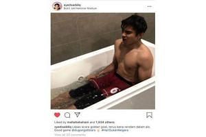 Youth and Sports Minister Syed Saddiq Syed Abdul Rahman posted a photo of himself shirtless in a bathtub on social media, which some Malaysians criticised as unbecoming of a minister.