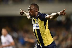 Olympic sprinter Usain Bolt scored his first two goals in professional football on Oct 12, 2018, when he started a pre-season game against second-tier Macarthur South West United in Sydney.