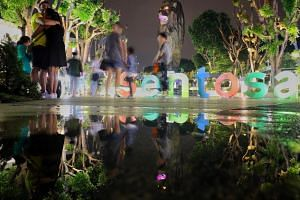 There are plans to reshape the entire island of Sentosa to provide more scope for new attractions and investments.