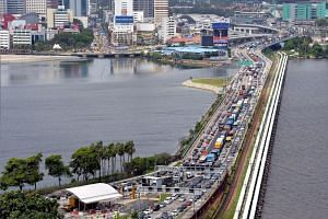 There are currently two land links into Johor - the Causeway in Woodlands and the Second Link bridge in Tuas.