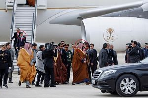 Maher Abdulaziz Mutreb, seen here disembarking from an airplane in Madrid in April, is one of the suspects identified by Turkey in the disappearance of the Saudi dissident Jamal Khashoggi. He was a frequent companion of Crown Prince Mohammed bin Salm