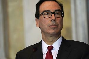 Mnuchin (abive) was planning to speak at the conference during a six-country, week-long swing through the Middle East.