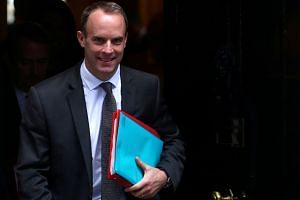 Britain's Secretary of State for Exiting the EU, Mr Dominic Raab, leaves 10 Downing Street, in London.