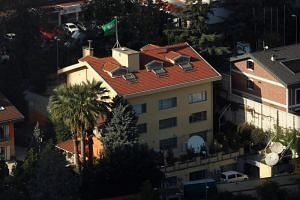 The Saudi consulate in Istanbul. Mr Jamal Khashoggi vanished after entering the consulate on Oct 2, 2018, and it is now confirmed that he was killed while in the building.