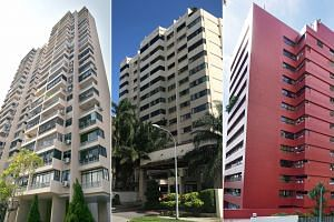 Three condominium sites at different stages of collective sales: (From left)  Chuan Park condo could not get an 80 per cent mandate for a $900 million collective sale by an Oct 13 deadline; Windy Heights' tender closed on Oct 10 without a taker at