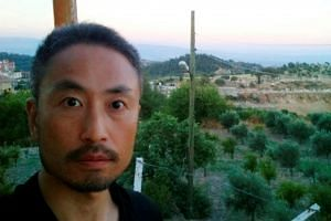 A 2015 photo showing Japanese journalist Jumpei Yasuda shortly before his entry into Syria.