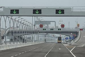 The Hong Kong link road leading to the Hong Kong-Zhuhai-Macau bridge will be officially opened today, and will open to traffic tomorrow. The bridge connects Hong Kong and Macau with the southern Chinese city of Zhuhai.