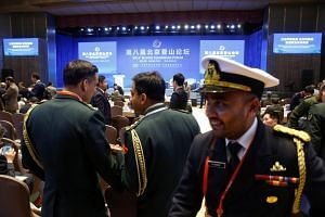 Military delegates attend the Xiangshan Forum in Beijing, China, on Oct 25, 2018.