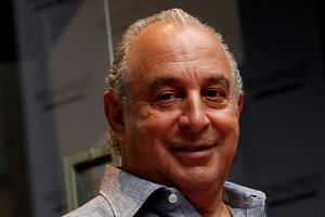 British billionaire Philip Green attending the opening of a Topshop flagship store in Hong Kong.