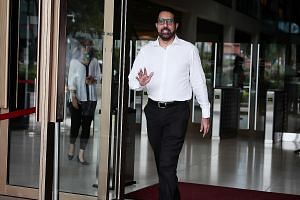 Workers' Party chief Pritam Singh leaving the Supreme Court on Wednesday. Yesterday was his first and only day on the stand. He is the third defendant in the ongoing civil suit over alleged improper payments made by AHTC town councillors to FMSS and