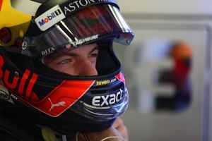 Verstappen prepares to drive in the practice sessions ahead of the Mexican grand prix.