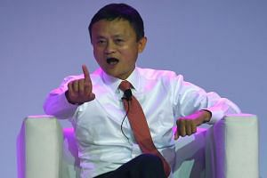 Co-founder of Alibaba Jack Ma at an international investment conference in Johannesburg on Oct 26, 2018.