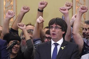 Former Catalan president Carles Puigdemont has launched a new party as he tries to rally separatists from his base in Belgium.
