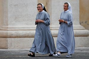 File photo of nuns walking at the Vatican, on Oct 16, 2018.