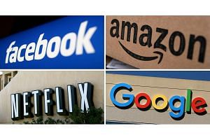 Amazon was down 9 per cent, touching six-month low, while Google was off 5.5 per cent and Facebook was trading lower 3.5 per cent. Netflix and Apple, were down 8 per cent and 3.6 per cent respectively.
