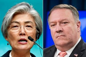 Foreign Minister Kang Kyung-wha asked for the exemption in a telephone call with US Secretary of State Mike Pompeo late on Oct 29, 2018.