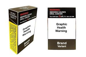 The ministry also wants the gory picture on the pack showing the ill effects of smoking, such as blindness and gum disease, to cover at least 75 per cent of the pack, up from 50 per cent now.