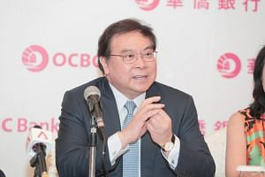 OCBC Bank Group CEO Samuel Tsien speaking at an event on June 18, 2018.