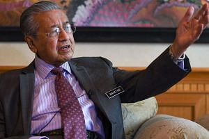 Malaysia's Prime Minister Mahathir Mohamad speaks during an interview on Nov 1, 2018.