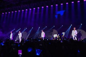 K-pop group Winner performing at The Max Pavilion on Nov 3 for the Singapore leg of their Everywhere concert tour.