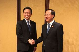 Minister for Trade and Industry Chan Chun Sing met Mr Fu Ziying, one of China's Vice Commerce Ministers and its International Trade Representative, on the sidelines of the inaugural China International Import Expo in Shanghai.
