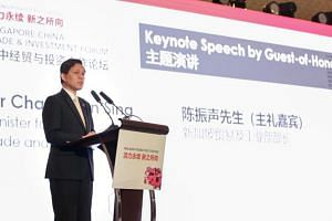 """Minister for Trade and Industry Chan Chun Sing said that the Chinese have faced and overcome many challenges in the last 40 years """"systematically and progressively""""."""