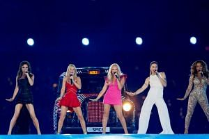 The Spice Girls perform during the closing ceremony of the London 2012 Olympic Games at the Olympic Stadium, on Aug 12, 2012.
