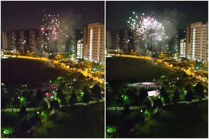 A video of the fireworks made the rounds on social media, with several netizens speculating they were set off to celebrate the Deepavali holiday on Nov 6, 2018.