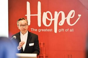 Mr Lui Chong Chee, chairman of the Boys' Brigade Share-A-Gift 2018 project, said that the new initiative builds on previous efforts to move cash donations online.