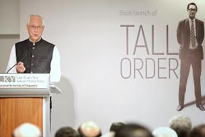 Emeritus Senior Minister Goh Chok Tong, speaking at the launch of his memoir yesterday at the Lee Kuan Yew School of Public Policy, said he was happy with the product and that there will be a volume 2.