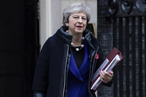 British Prime Minister Theresa May reportedly sent a five-page letter to the leaders of Northern Ireland's small Democratic Unionist Party that props up her government.