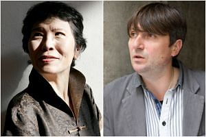 Malaysia-born American poet Shirley Geok-lin Lim (left) and British poet Simon Armitage expressed their fears of impending environmental disaster.