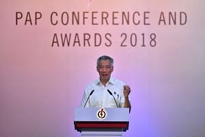 PM Lee Hsien Loong thanked outgoing party chairman Khaw Boon Wan, vice-chairman Yaacob Ibrahim, assistant secretaries-general Teo Chee Hean and Tharman Shanmugaratnam and treasurer Lim Swee Say for their contributions over the years.