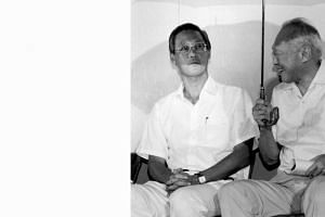 Then Prime Minister Goh Chok Tong and Senior Minister Lee Kuan Yew at a by-election rally in Marine Parade GRC in December 1992. A new book, Tall Order: The Goh Chok Tong Story, contains many accounts of the interactions between the two men, about ho