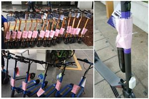 According to the LTA, the personal mobility devices were found in areas such as Bencoolen Street and Bayfront Avenue.