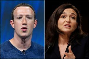 While founder Mark Zuckerberg (left) conducted a public apology tour, Ms Sheryl Sandberg has overseen an aggressive lobbying campaign to combat Facebook's critics, shift public anger toward rival companies and ward off damaging regulation.