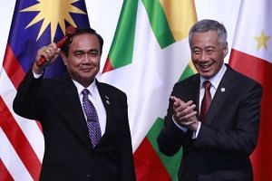 """Thai Prime Minister Prayut Chan-o-cha thanked and congratulated his Singapore counterpart Lee Hsien Loong on """"efficiently driving forward a resilient and innovative Asean community"""" and promised that Thailand will continue the good work."""