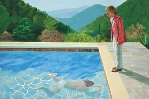The sale on Nov 15, 2018, of Portrait Of An Artist (Pool With Two Figures) topped the US$80 million estimate.