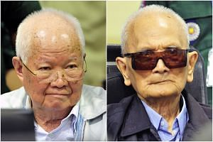 The two most senior surviving members of the Khmer Rouge regime, Nuon Chea (right) and Khieu Samphan are being held responsible for genocidal actions toward groups in Cambodia.