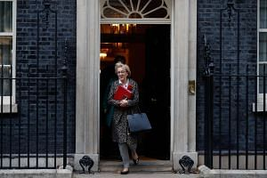 The ministers, including Ms Andrea Leadsom (above), leader of the House of Commons, will reportedly meet this weekend to draft terms of the ultimatum they will give British Prime Minister Theresa May.