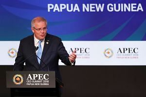 Australia's PM Scott Morrison warned that the world is facing a