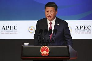 "Chinese President Xi Jinping said the world should ""uphold the WTO-centred multilateral trading system, make economic globalisation more open, inclusive, balanced and beneficial to all""."