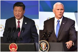 Chinese President Xi Jinping and US Vice-President Mike Pence were addressing business leaders at the Asia-Pacific Economic Cooperation CEO Summit, held on a cruise ship anchored by the Papua New Guinean capital.
