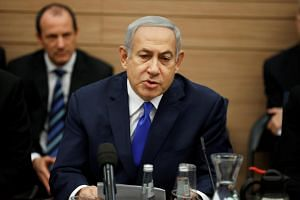 Mr Benjamin Netanyahu is facing a crisis triggered when the defence minister quit last week and pulled his party's legislators out of the government, saying it was not responding forcefully enough to rockets fired into Israel by Palestinian militants
