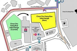 The new interchange will be at the junction of Choa Chu Kang Loop and Choa Chu Kang Drive and will feature the first one-stop service centre in a bus interchange.