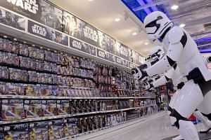 The Star Wars section at the Toys 'R' Us store in VivoCity, as seen in this 2016 photo. Toys 'R' Us Asia has more than 500 regional stores, including franchises in Macau and the Philippines. It will be putting money into refurbishing its outlets and