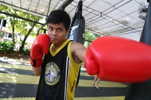 Muhammad Ashiq (above) will face Indonesian Galih Susanto for the World Boxing Council International Silver super bantamweight (up to 55kg) title on Nov 23, 2018.