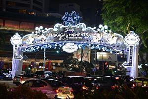 Disney-themed Christmas 2018 light-up along Orchard Road.