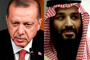 President Erdogan (left) could meet Crown Prince Mohammed bin Salman on the sidelines of the G-20 summit.